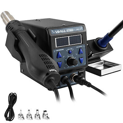 8786d-i Hot Air Gun Desoldering Soldering Iron Station 2in1 Rework Station 700w