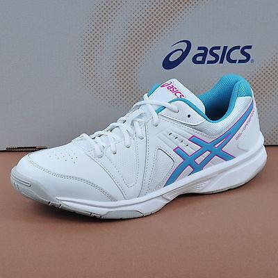 ASICS Gel-Gamepoint Damen Tennis Schuhe Sport White/Blue Jewel/Pink E459K-0143