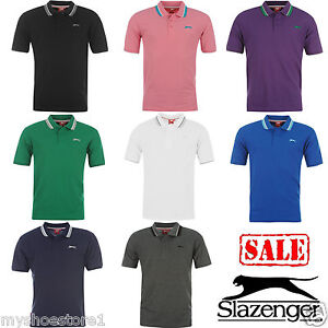 BRAND-NEW-MENS-GENTS-SLAZENGER-PLAIN-SHORT-SLEEVE-CASUAL-POLO-T-SHIRT-TOP-SIZE