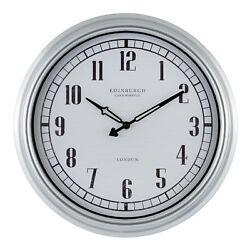 27923 Edinburgh Clock Works Company 16 Indoor/Outdoor Wall Clock by Equity