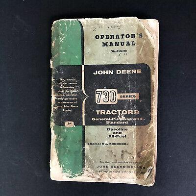 John Deere 730 Diesel Tractor Owners Manual General Purpose Standard Sn 7300000-