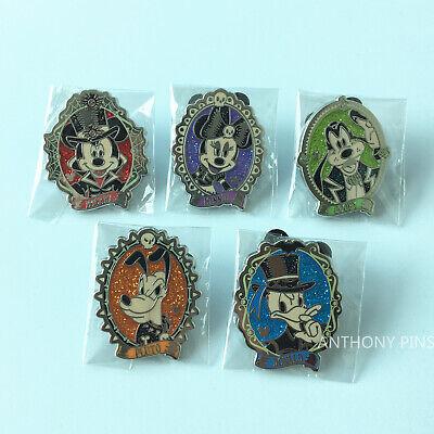 Disney Pins Halloween 2017 (Shanghai Disney Pin SHDL 2017 Halloween set of 5 Pins HM Hidden Mickey)