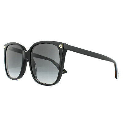Gucci Sunglasses GG0022S 001 Black Grey Gradient