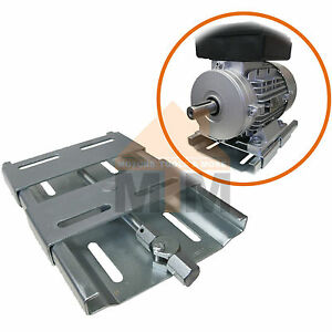 quick mount electric motor mount base plate slide rails