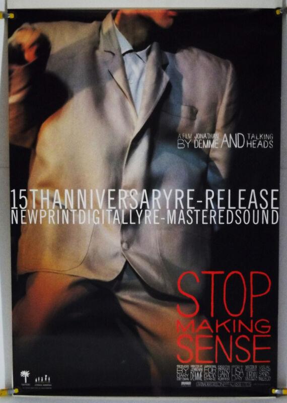 STOP MAKING SENSE ROLLED ORIG 1SH MOVIE POSTER TALKING HEADS CONCERT RR99 (1984)