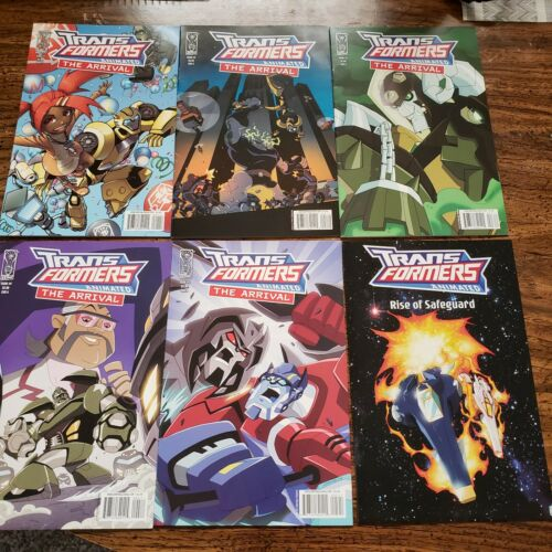 Transformers Animated 1-5 and Rise of Safeguard Comic Lot