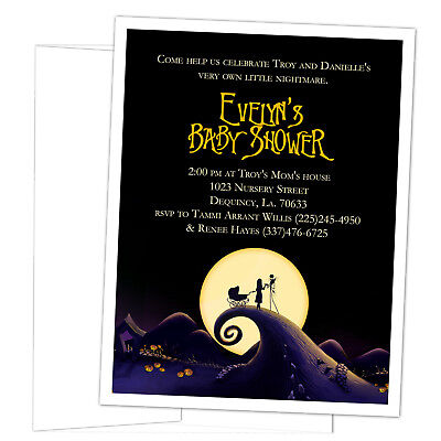 Christmas Baby Shower Invitations (8 Nightmare Before Christmas Baby Shower Personalized)