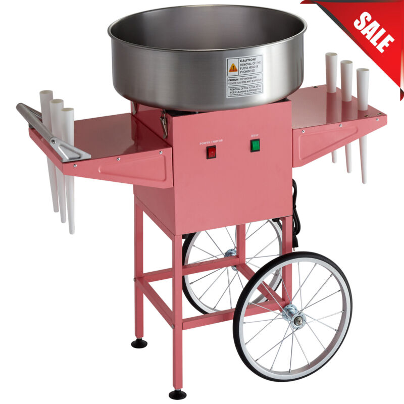 NEW Carnival King Commercial Cotton Candy Machine Maker Concession Cart Stand