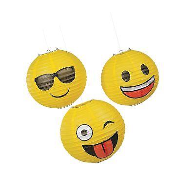 Fun Express Emoji Hanging Party Lanterns - 3 Pieces 1