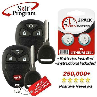 2 For 2010 2011 2012 2013 2014 2015 2016 Chevrolet Traverse Remote Fob + Key