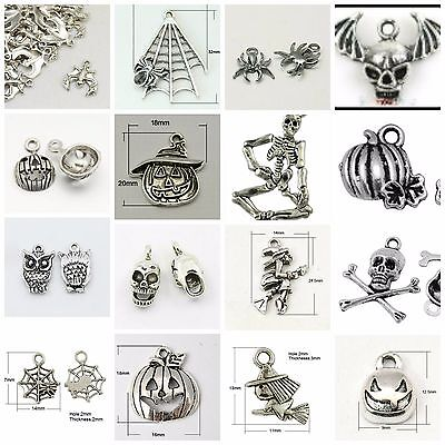 Halloween Soup-170 pieces-tibetan antique silver color-mixed charms-CLEARANCE