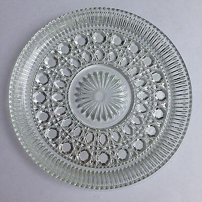 Vintage Round Clear Pressed Glass Serving Tray Plate XXXXXXXXXXXXXXXXX