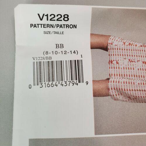 Vogue Sewing Pattern V1228 Vena Cava Cutting Edge Misses Dress Uncut BB 8-14  - $17.95