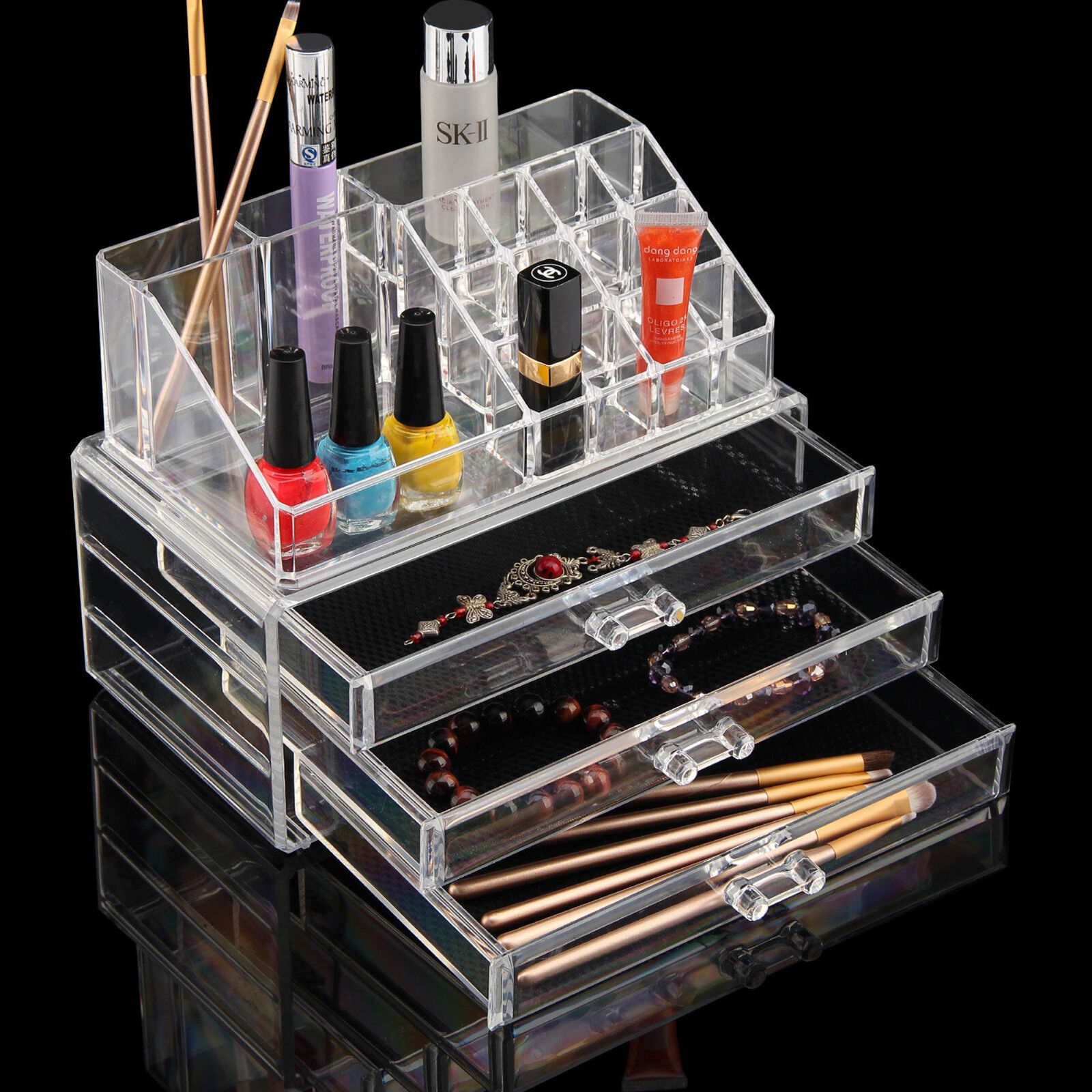El Makeup Clip Acrylic Insert Drawer Jewelry Organizer