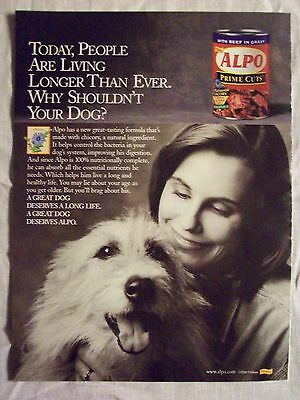 2000 Magazine Advertisement Ad Page For Alpo Prime Cuts Canned Dog Food