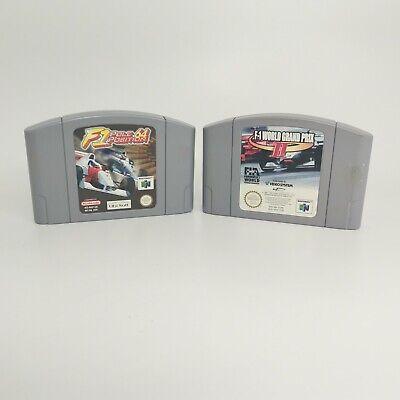 F1 Pole Position 64/World Grand Prix 2 Bundle Job Lot Nintendo N64 Cartridge PAL