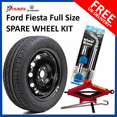 FORD FIESTA 2008-2019 FULL SIZE STEEL SPARE WHEEL &TYRE + FREE TOOLS 195/55R15