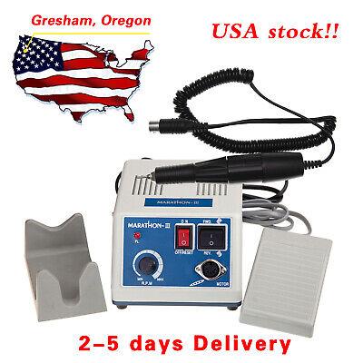 Dental Lab Marathon Electric Micromotor 35k Rpm Handpiece Polishing Unit Usa