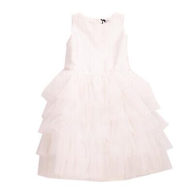 RRP €160 PICCOLA LUDO Satin & Tulle Communion Dress Size 12Y White Bow Back