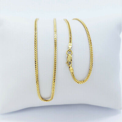 GENUINE 22K Solid Gold Chain Necklace Franco 20