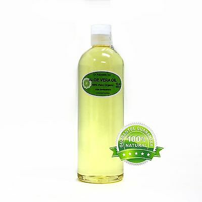 Premium 100% Pure Organic Cold Pressed Aloe Vera Oil Moisturizer 2 oz up to 7 LB 100% Organic Aloe