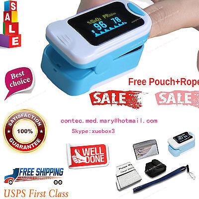 Usa Finger Tip Blood Oxygen Spo2 Oled Pulse Oximeter Heart Rate Monitorfda.hot