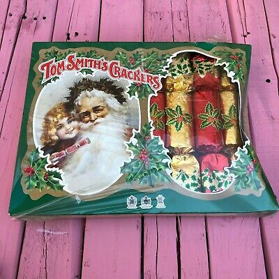 RARE VINTAGE Tom Smith's Christmas Holiday Surprise Crackers Never Opened! Smith