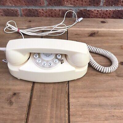 Wild & Wolf Princess 1950s Style Vintage Retro Cream Telephone