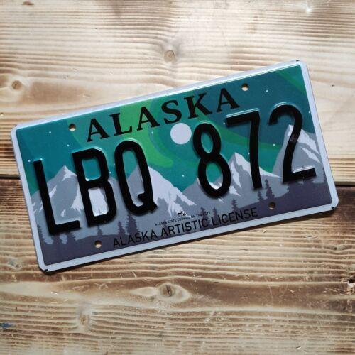 USA Nummernschild/Kennzeichen/license plate/US car * Alaska northern light*