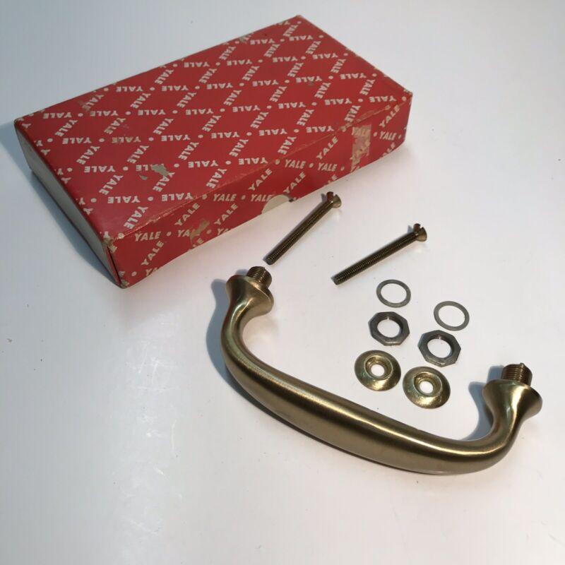 YALE Solid Brass Pull Door Handle Vintage