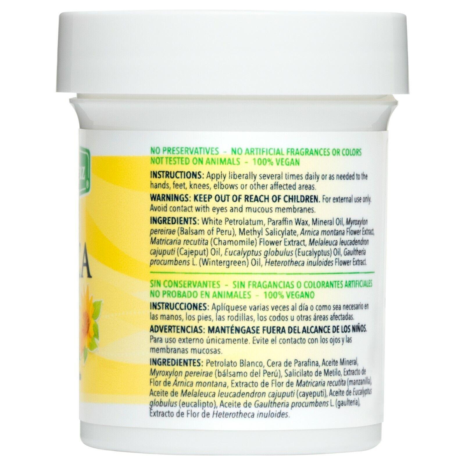 De La Cruz Arnica Salve for Cracked Skin 2 OZ - (4 JARS) / Made in USA Exp 5/24 1