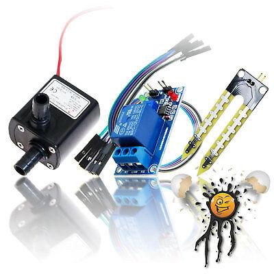 12v Bewsserungsset Hygrometer Moisture Soil Sensor Set Wasserpumpe Waterpump