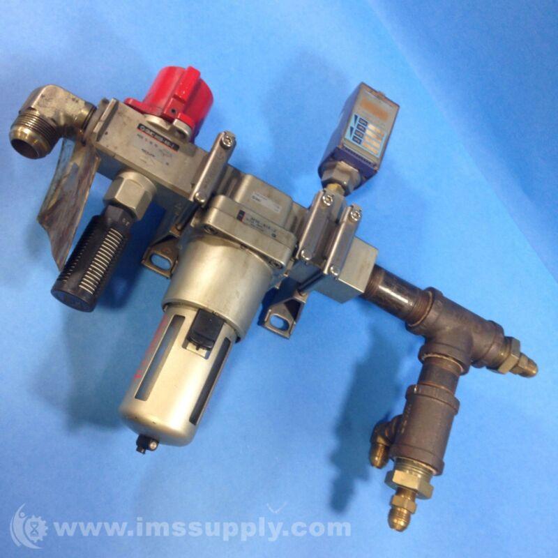 SMC  101159-2 CUSTOM SMC ASSEMBLY Pneumatic Filter Unit USIP