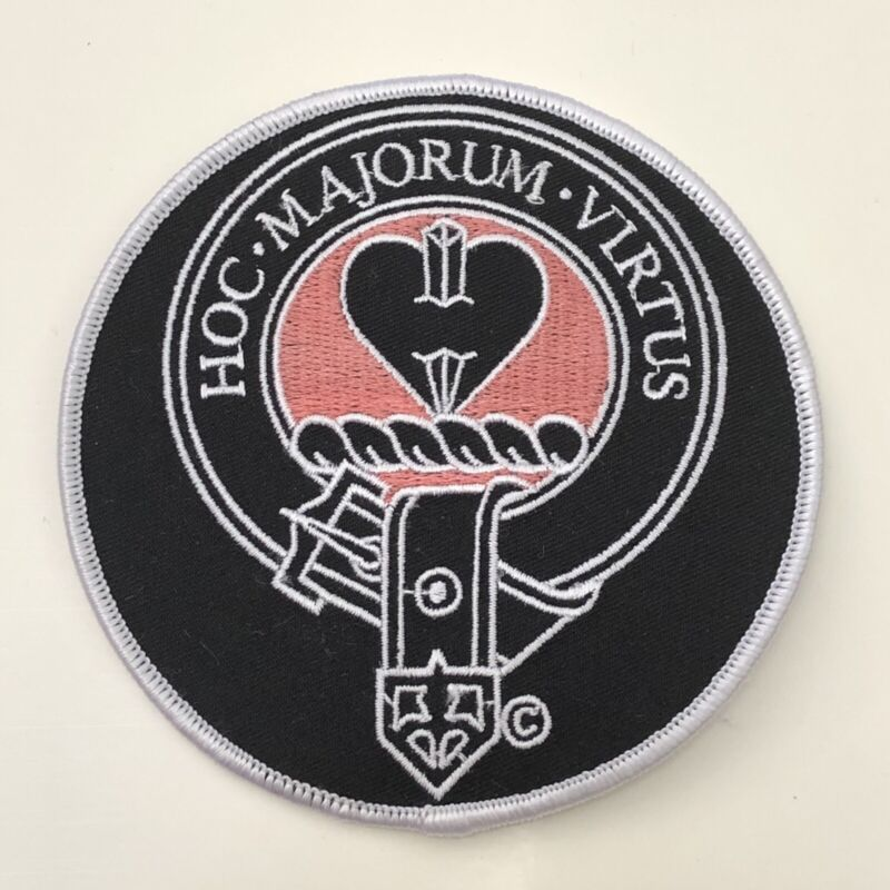 New CLAN LOGAN Embroidered Cloth Patch SCOTTISH CREST Hoc Majorum Virtus