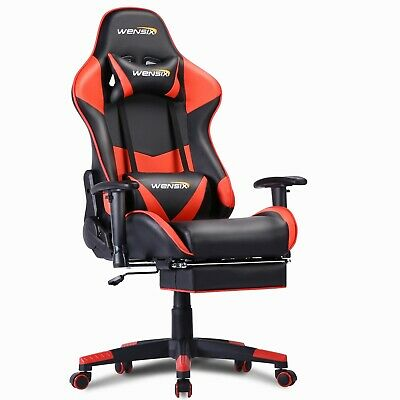 Pc Gaming Chair Massage Office Ergonomic Desk Racing Executive Pu Leather 2020