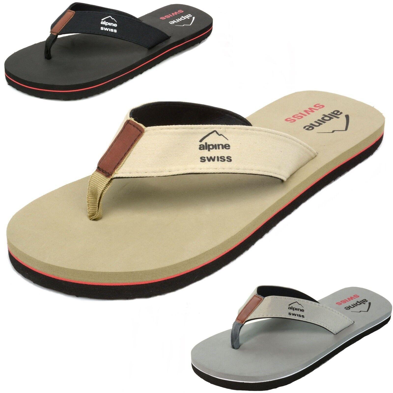 4eaf2fce734620 Alpine Swiss Mens Flip Flops Beach Sandals Lightweight EVA Sole Comfort  Thongs 아이템 넘버  401124134917.