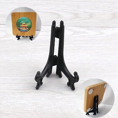 20Pieces Picture Easel Black 3Inches Plastic Stand Set Weddings Tables Decor Black Easel Stand