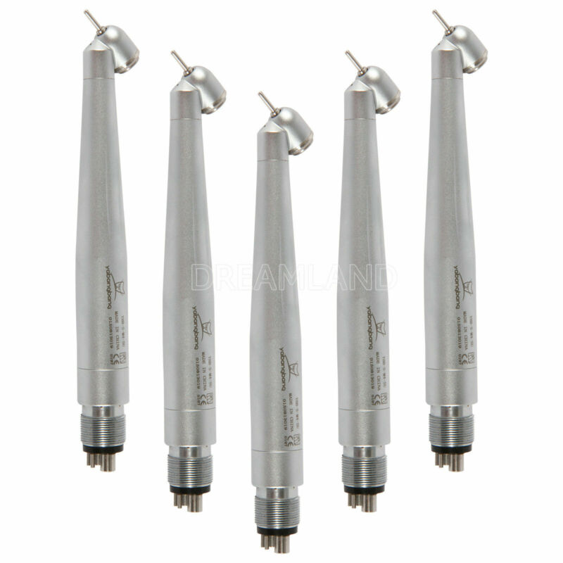 5 Fit NSK PANA MAX 45 Degree Air Turbine High Speed Handpiece 4-Hole Push button