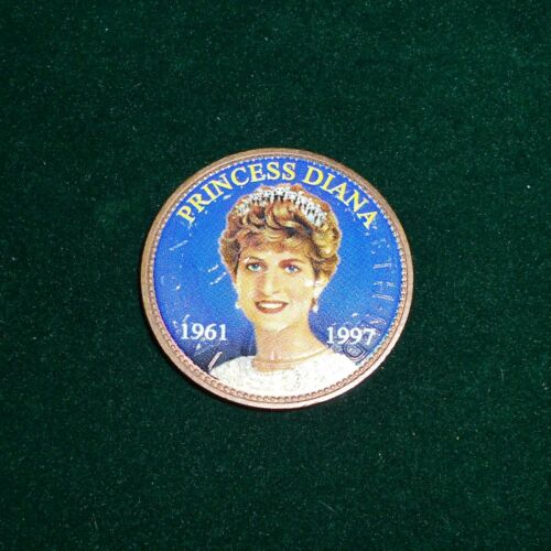Princess Diana British 1 Penny Colorized Coin