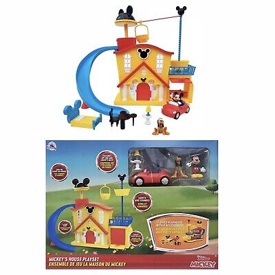 DISNEY Mickey Mouse House Playset with Lights, Sounds Accessories New