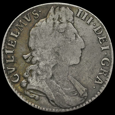 1698 William III Early Milled Silver Decimo Half Crown #2