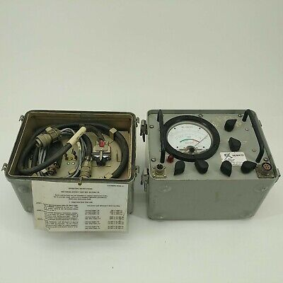 Vintage Paradynamic Rf Power Test Set Anusm-174 115vac Navy Military Meter