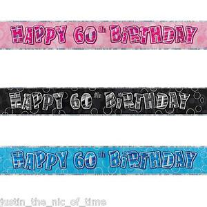 FOIL BANNER Birthday Party BANNERS Milestone Decorations 12ft Glitz 13th-100th