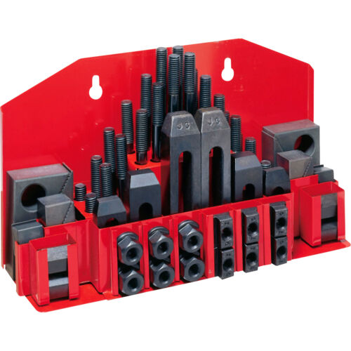 """5/16-18 STUD SIZE 3/8"""" T-SLOT SIZE 58 PIECE CLAMPING KIT MILL MACHINIST SET -NEW"""
