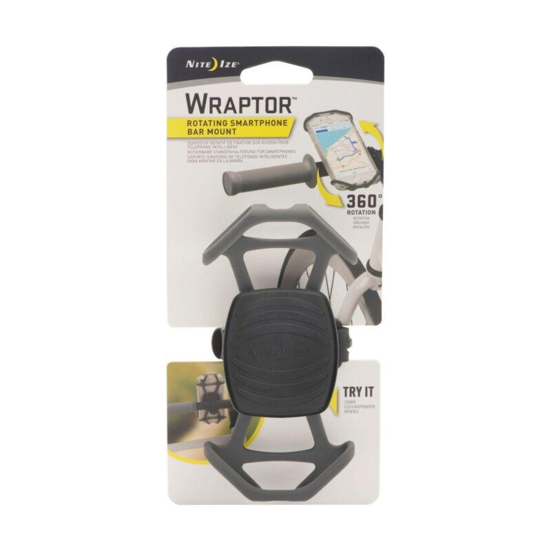 Nite Ize Wraptor Rotating Smartphone Bar Mount Black Mobile Phone Holder Cycling