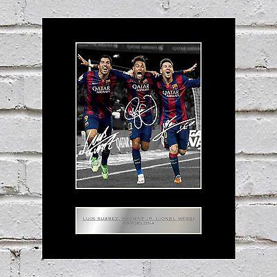 Luis Suarez, Neymar Jr, Lionel Messi  Mounted Photo Display Barcelona FC