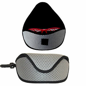 2 x NEW PADDED SUNGLASSES SPECTACLES CASES SPORTS CLIP HOLIDAY READING TRAVEL