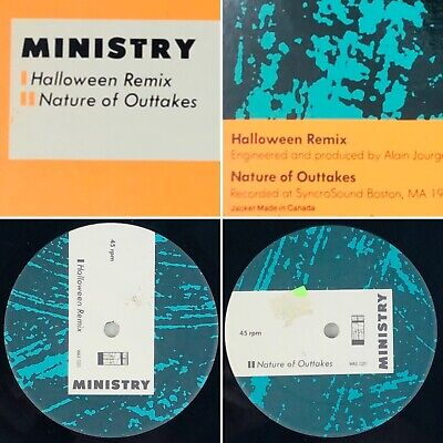 Ministry Halloween Remix Nature Of Outtakes WAX020 Vinyl (VG+) Tested - Remixed Halloween Music