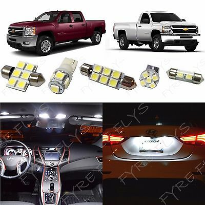 14 White LED interior lights package 2007-2013 Chevy Silverado & GMC Sierra CS3W