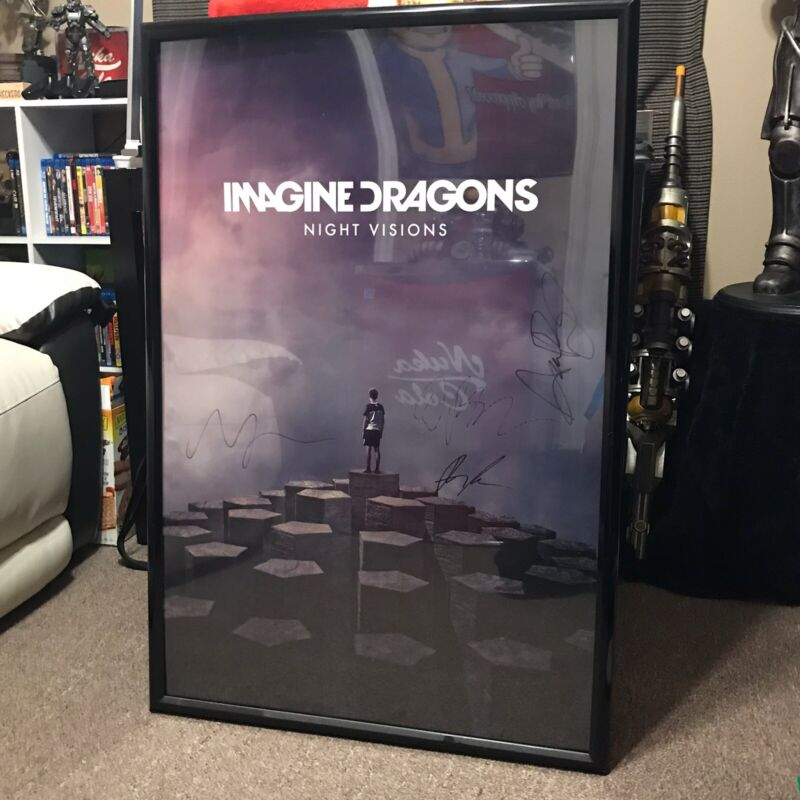 """Imagine Dragons Night Visions Signed 24 X 36"""" Poster"""